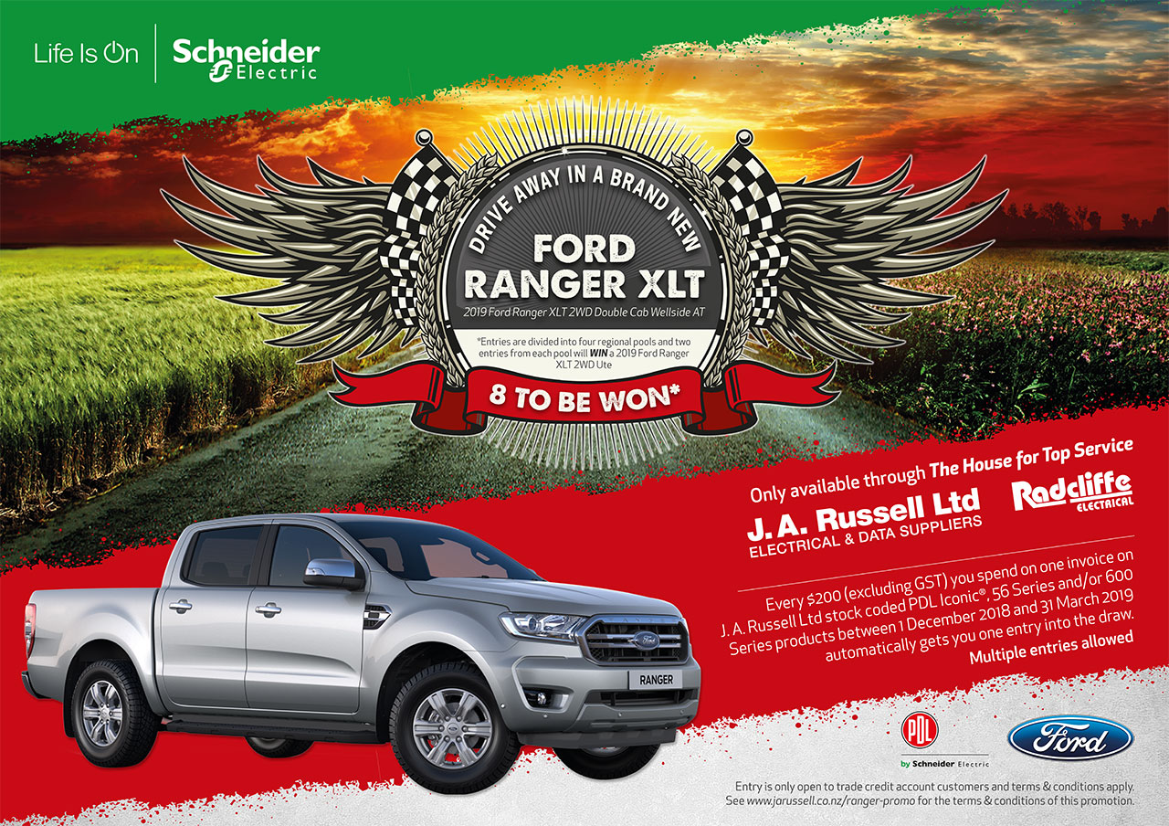 J  A  Russell Ltd > Promotions > Win a Ford Ranger